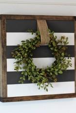 Striped Sign w/ Wreath