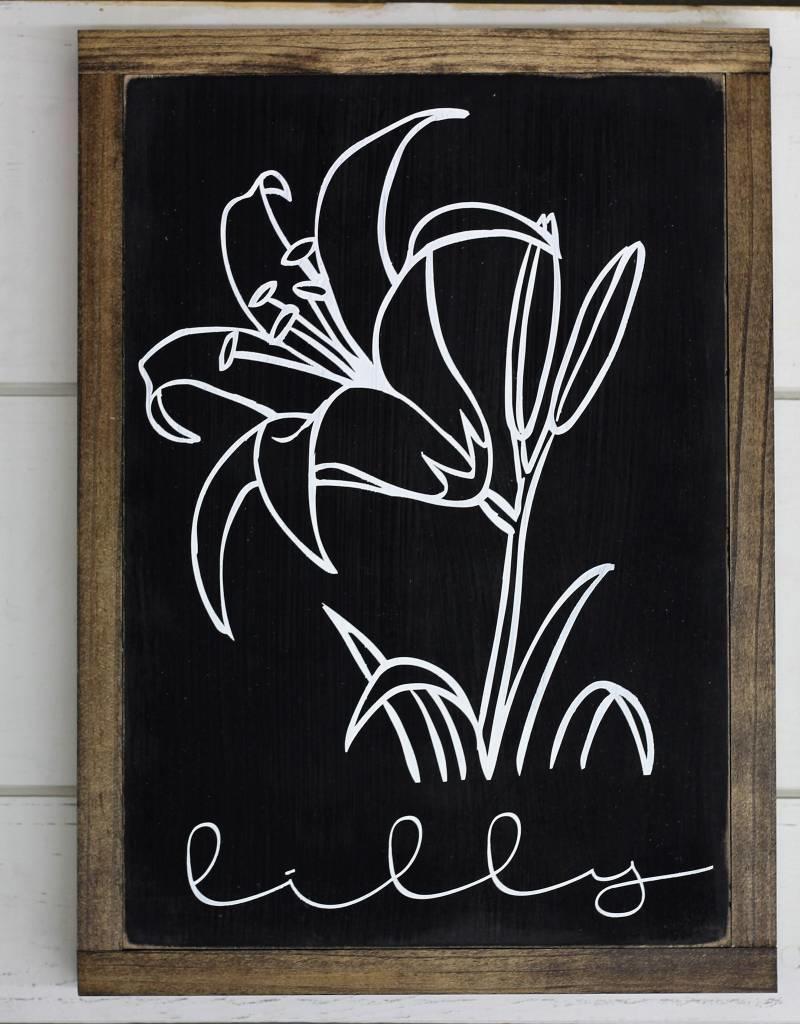 Black Flower Signs (3 variations)