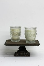Embossed Glass Candle-2 scents available