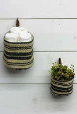 Jute Wall Basket with leather loop