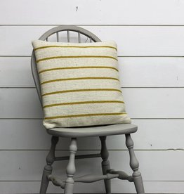 Yellow Woven Striped Pillow