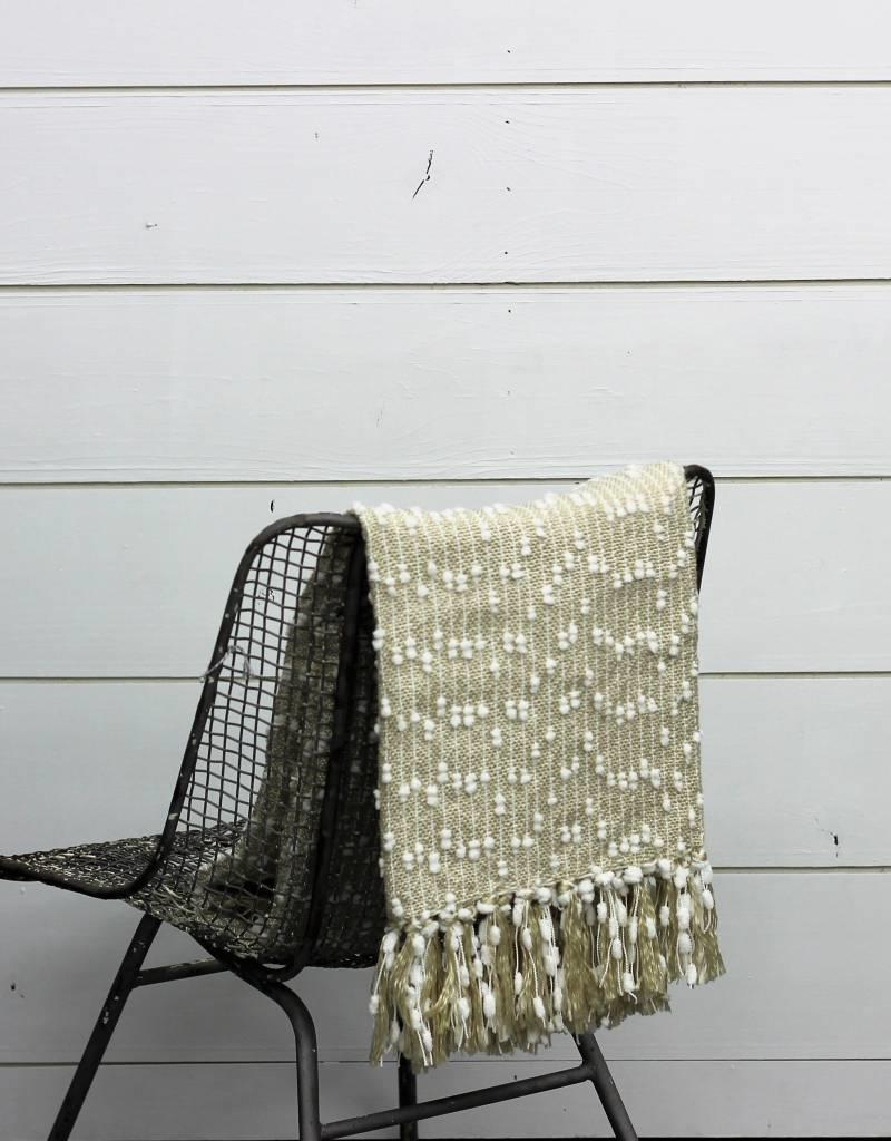 Petite Pompom Throw- 2 colors