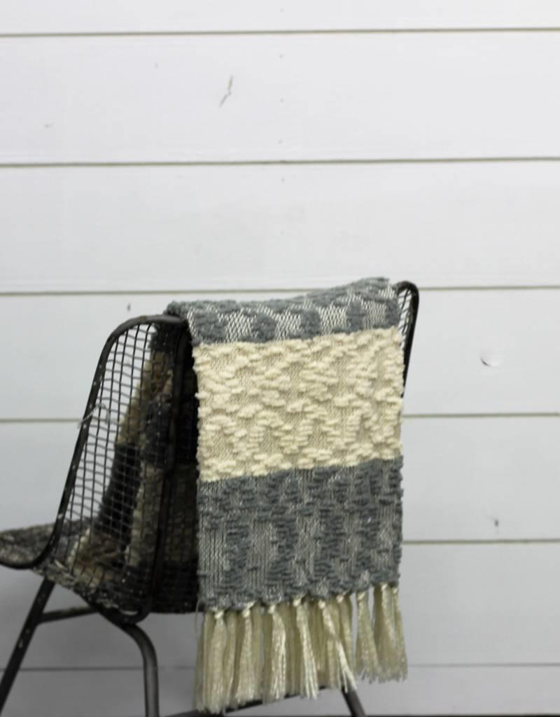 Nubby Design Striped Throw- 2 Colors