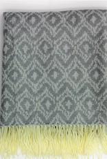 Jacquard Throw Grey