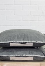 Gray Wash Canvas Pillow