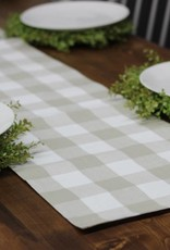Tan Check Table Runner