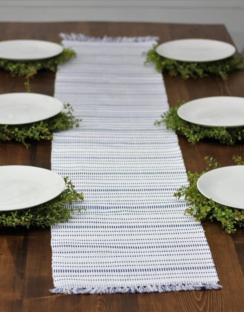Harris Stripe Navy Table Runner