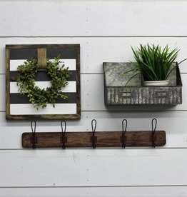 Rusty Metal Wood Wall Hooks