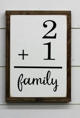 Family Flashcard Sign