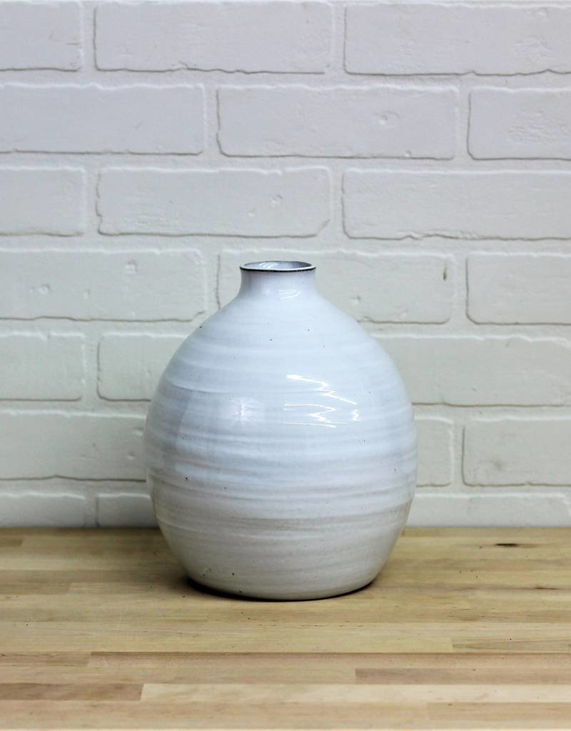 Fat Hand Pottery Vase