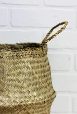 Bulge Seagrass Basket, Natural