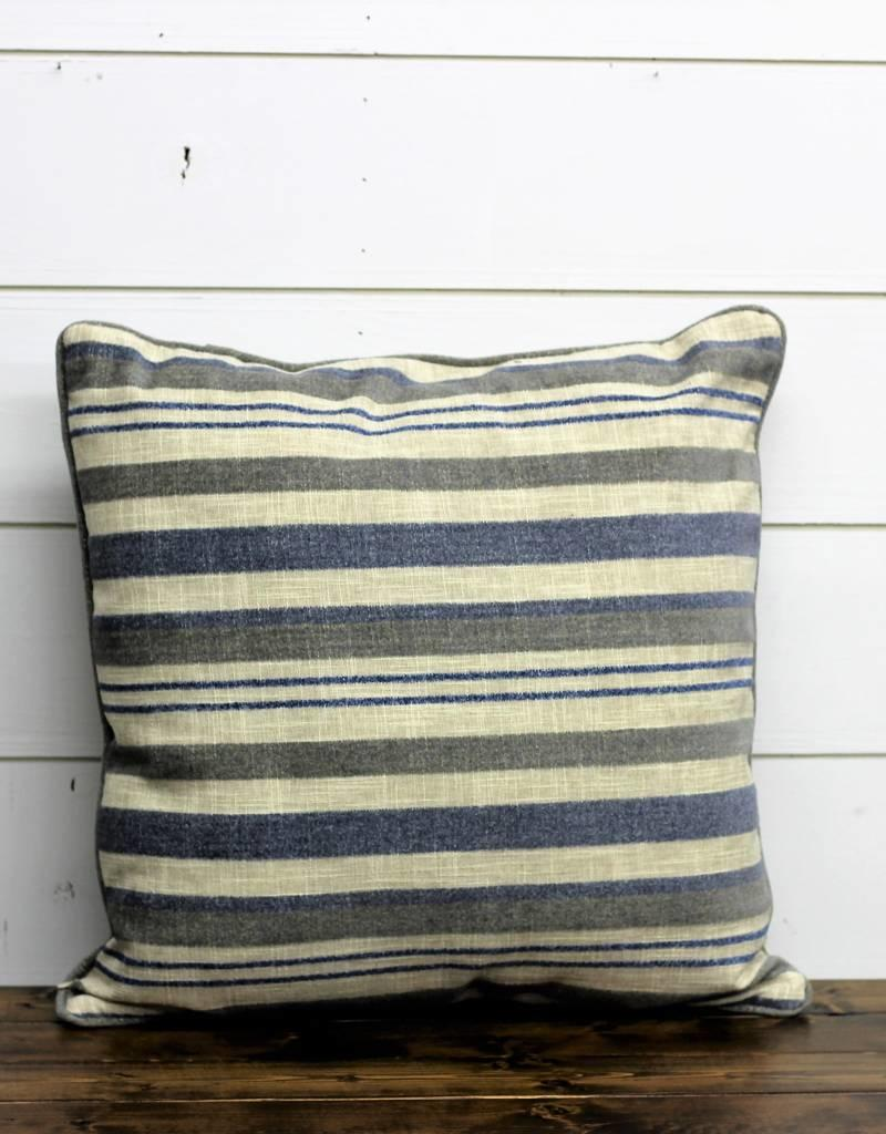 Blue Acunins Stripe Throw Pillow