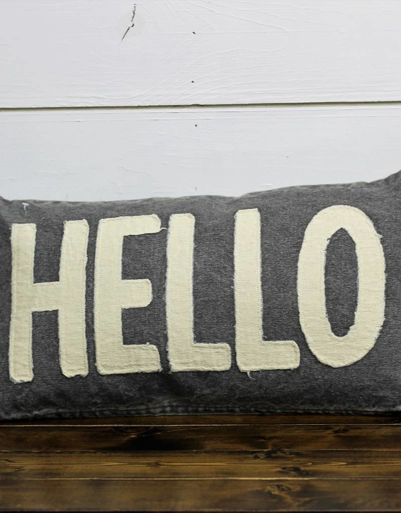 Hello Canvas Pillow