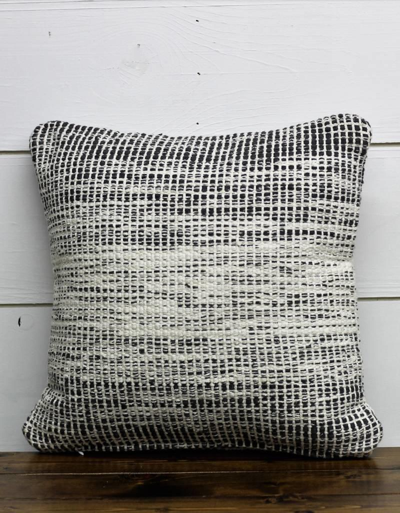 Gray & White Double Sided Pillow
