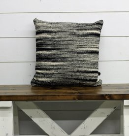 Black & Cream Double Sided Pillow