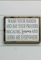 Jesus & Germs Bathroom Sign