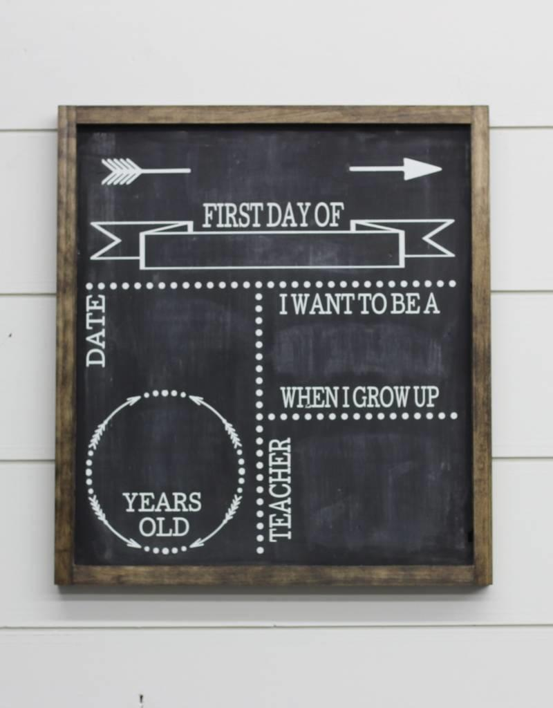 Double Sided Back To School Birthday Sign
