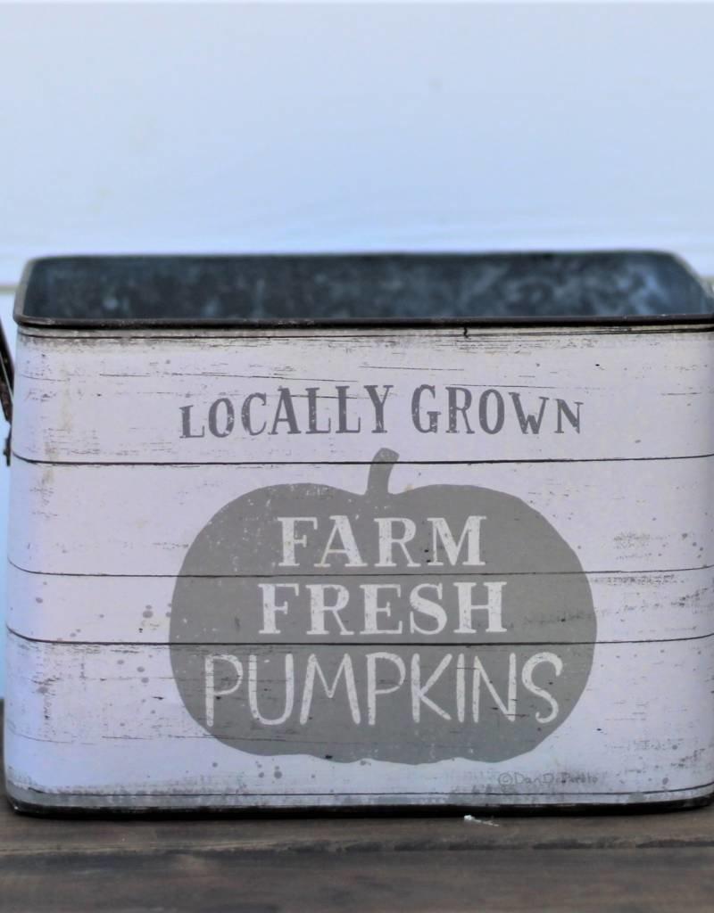Tin Buckets-Fresh Pumpkins