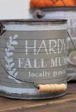 Tin Buckets Round Pumpkin/Mums/Gourds