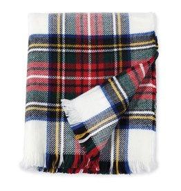 White Tartan Blanket
