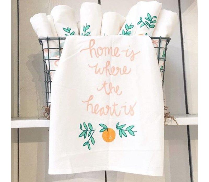 Home Heart Tea Towel