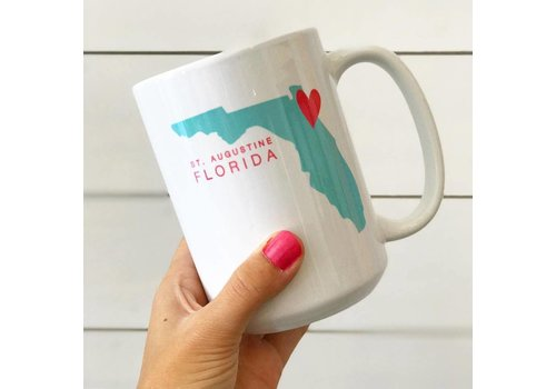 Declaration & Co. St Augustine Heart Mug