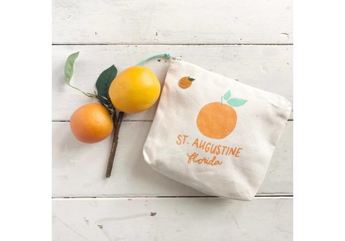 Declaration & Co. St Augustine Orange Zipper Pouch