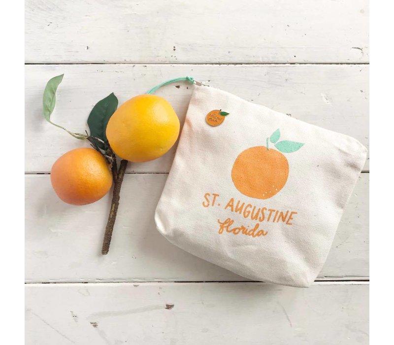 St Augustine Orange Zipper Pouch
