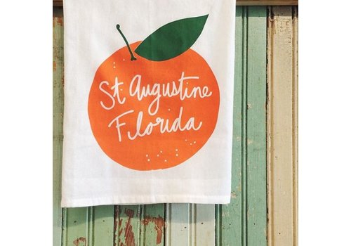 Declaration & Co. St Augustine Orange Tea Towel