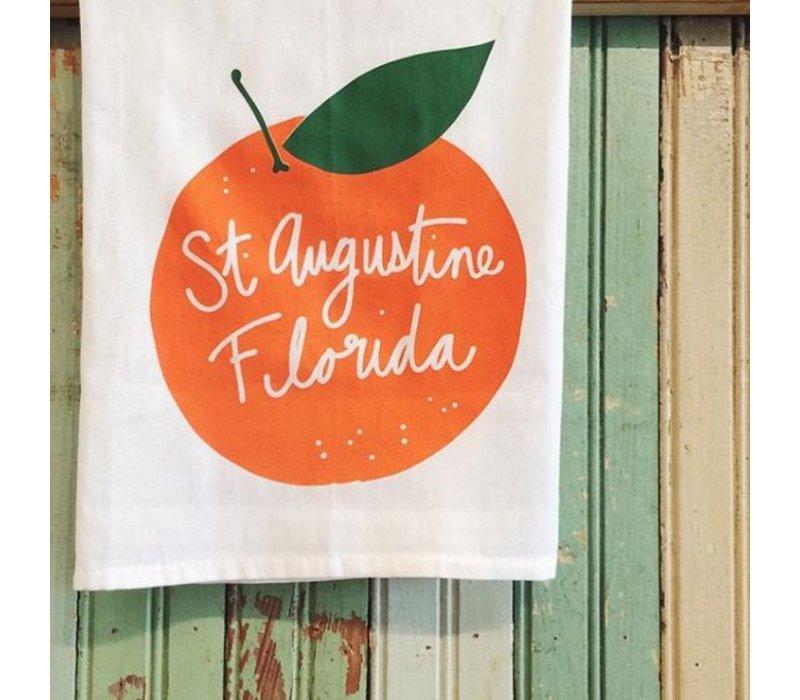 St Augustine Orange Tea Towel