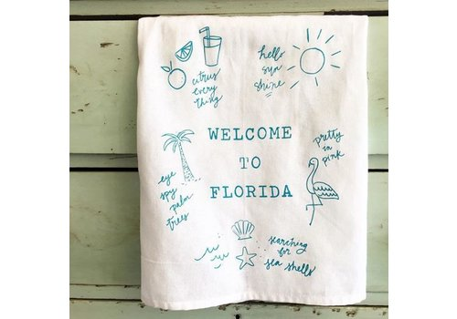 Declaration & Co. Welcome to Florida Tea Towel