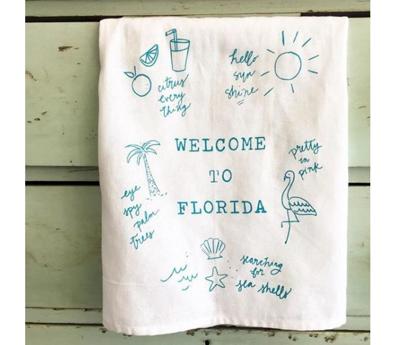 Welcome to Florida Tea Towel