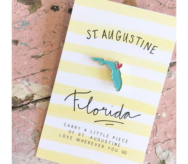 St Augustine Enamel Pin