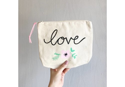 Declaration & Co. Love Zipper Pouch