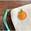Declaration & Co. Orange St Augustine Enamel Pin