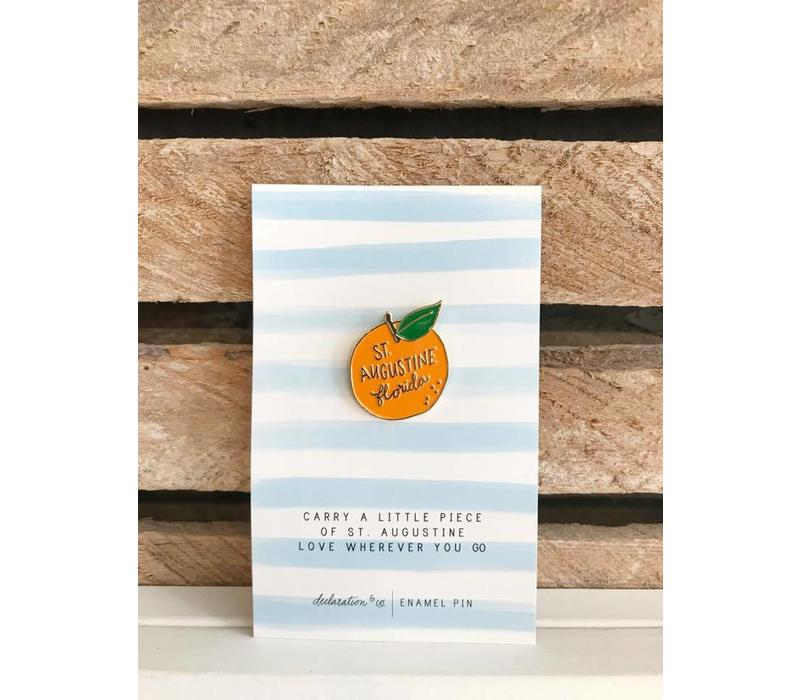 Orange St Augustine Enamel Pin