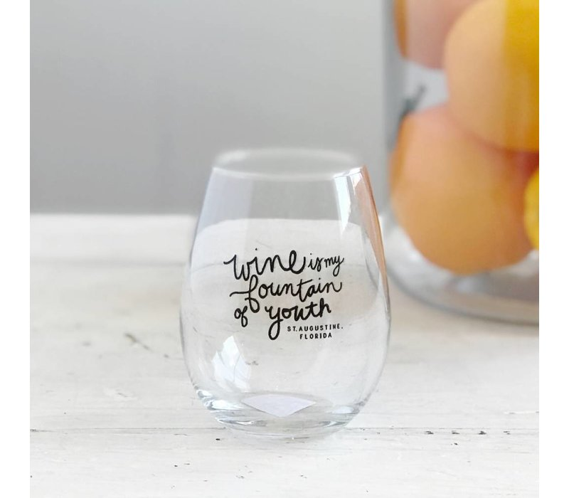 Fountain of Youth Wine Glass
