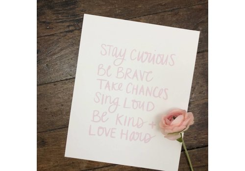 Declaration & Co. Stay Curious print