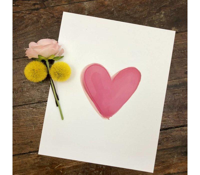 Pink Heart print