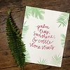 Declaration & Co. Palm Trees print
