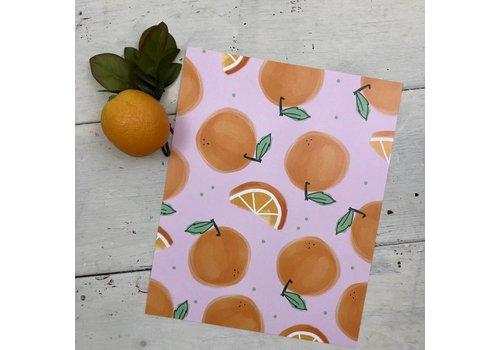 Declaration & Co. Lots of Oranges print
