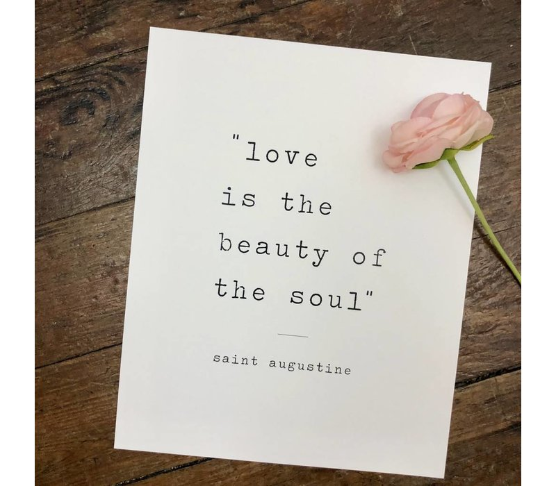 Beauty of the Soul print