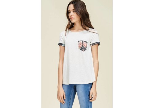 StacCato Floral Pocket Tee