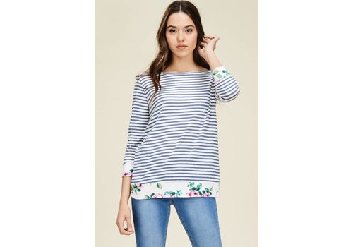StacCato Stripe Detail Top