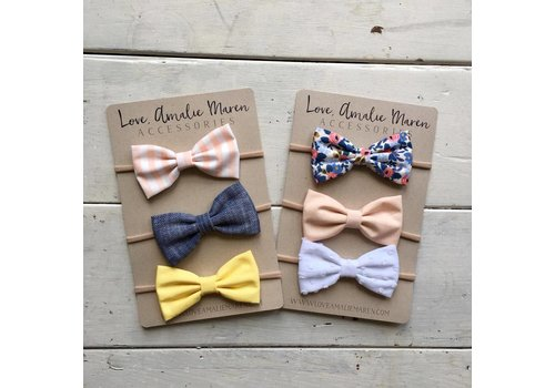 Love, Amalie Maren Baby Headband Sets - Large 4""