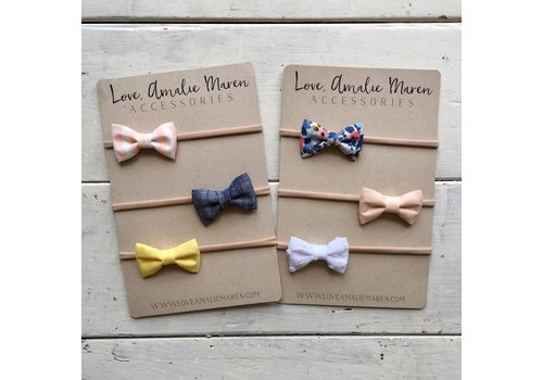 Love, Amalie Maren Baby Headband Sets - Small 2""