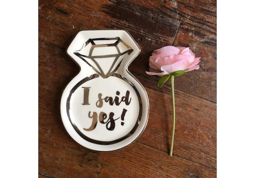 Slant I Said Yes Trinket Tray