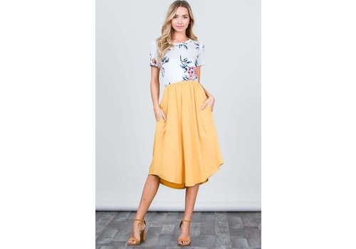 Twenty Ten Floral & Solid Midi Dress