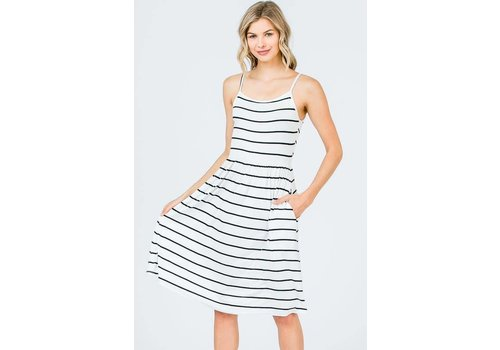 Faith Apparel BW Striped Cami Dress