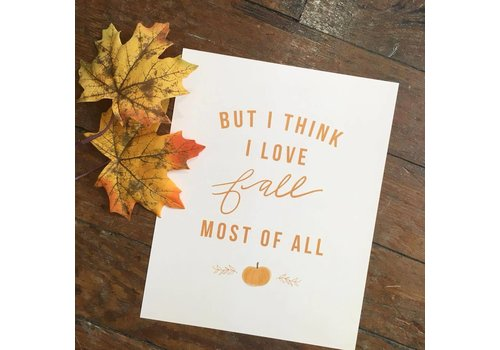 Declaration & Co. 810 Print I Love Fall